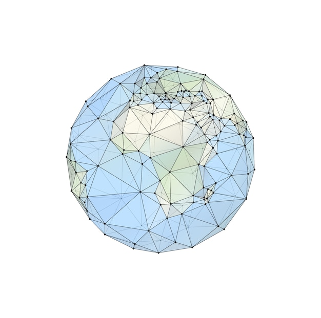 Globe, planet. map of the continents of the world. vector