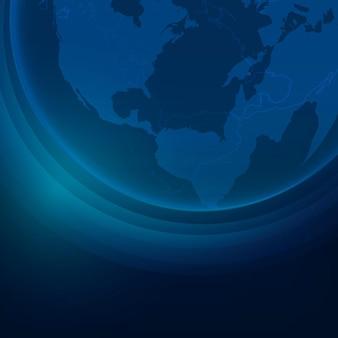 Sfondo aziendale della tecnologia del globo