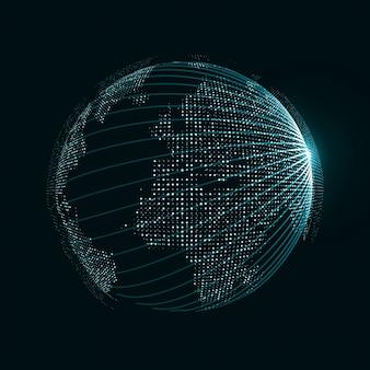 Глобус с точками и связями