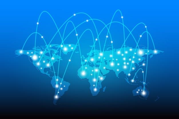 Карта мира с сетевым подключением globe