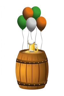 Globes party barrel beer