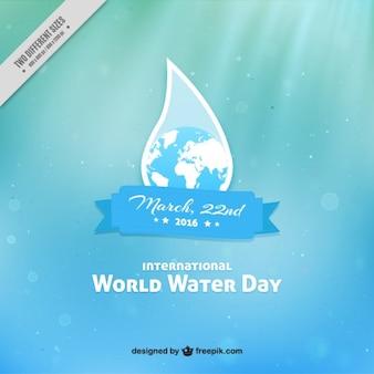 ドロップでglobleと世界水の日の背景