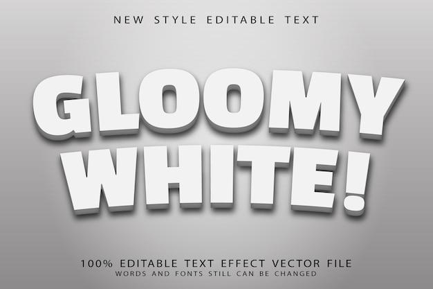 Gloomy white editable text effect modern style