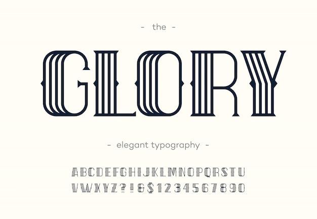 영광 아트 데코 글꼴.