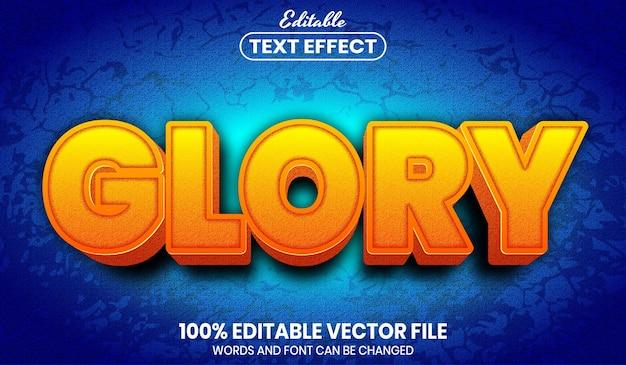 Glory text, editable text effect