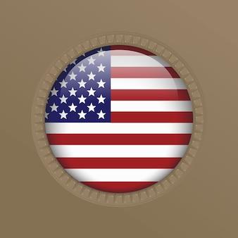 Глянцевая американская америка сша флаг