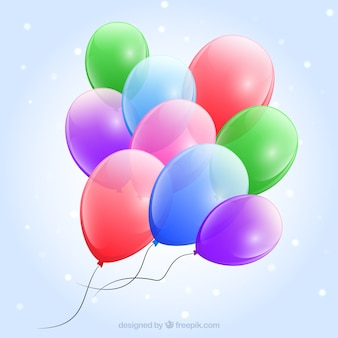Glossy balloons background