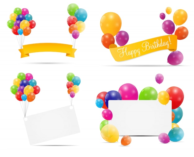 Glossy balloons banners