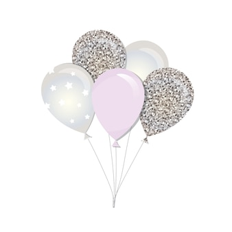 Glossy balloons for holidays design.