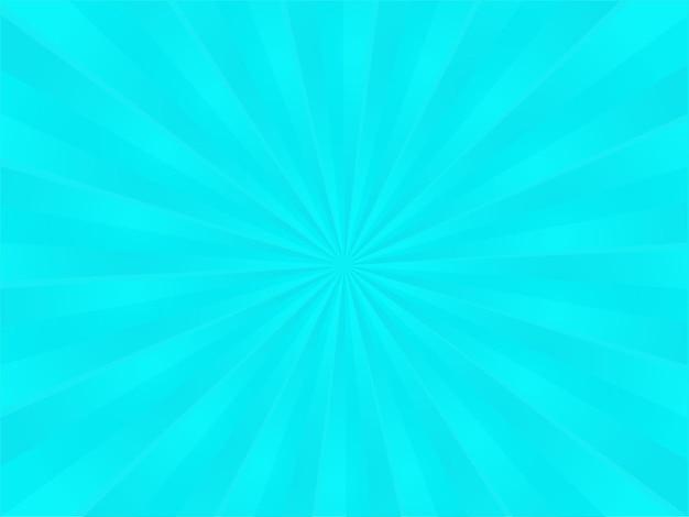 光沢のある青い放射状光線の背景。