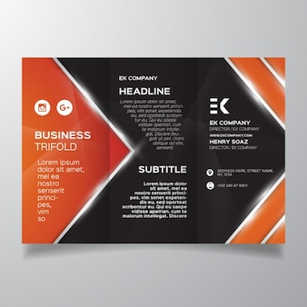 Glossy brochure with geometric shapes