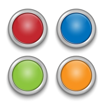 Glossy buttons with metallic elements