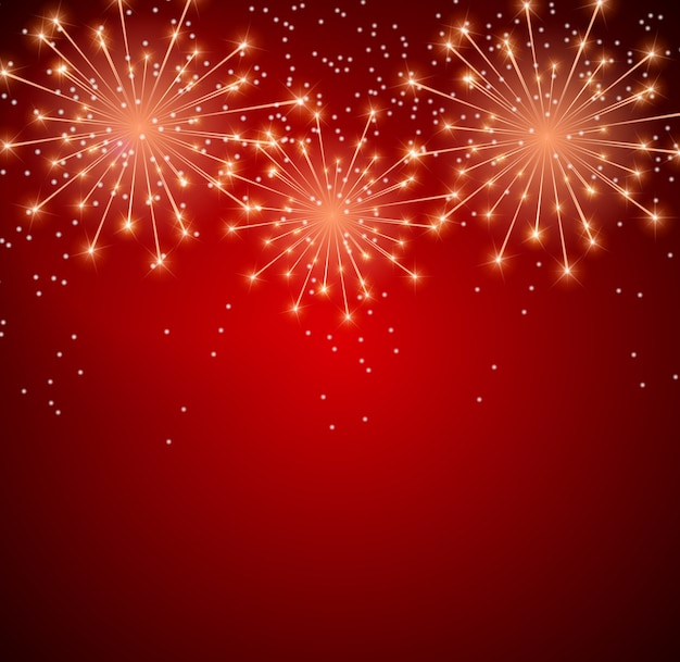 Glossy fireworks background