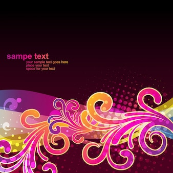 Glossy floral background design