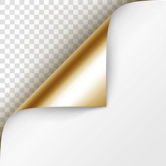 Глянцевая фольга с загнутым уголком