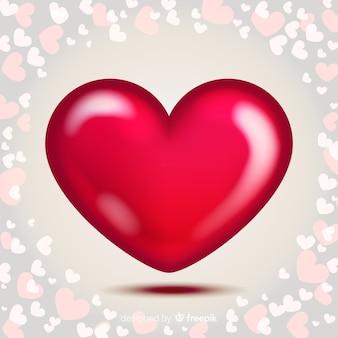 광택 심장 배경