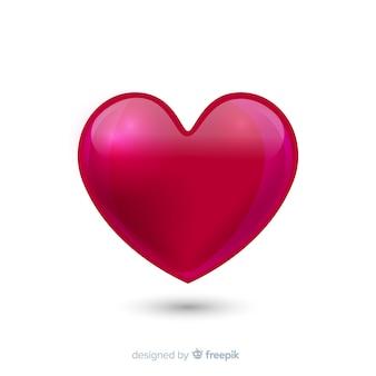 Sfondo cuore lucido