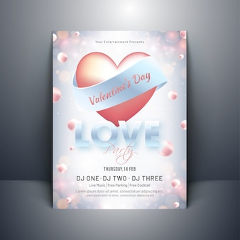 Glossy heart shape with typography of love on pearl decorated ba