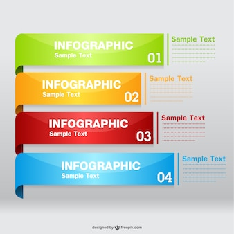 Glossy labels infographic