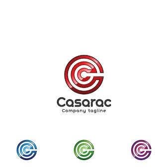 光沢のある文字cロゴ