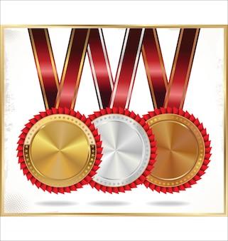 Glossy medal