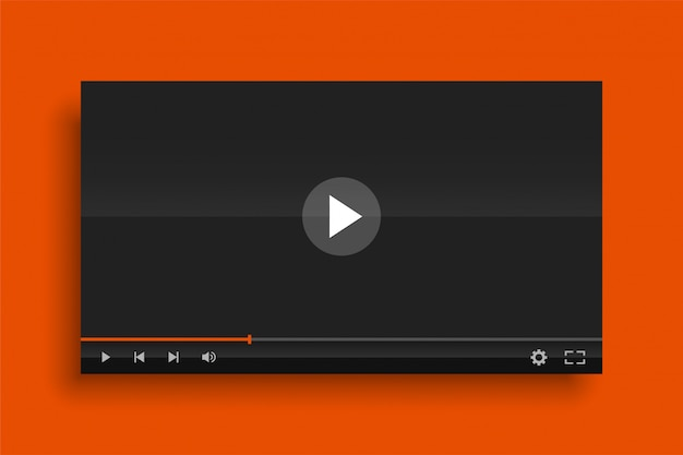 Glossy modern video player template   template