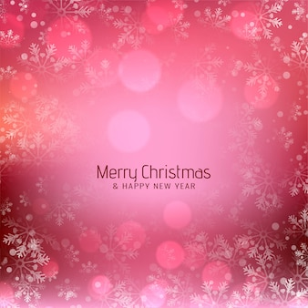 Glossy pink merry christmas festive background