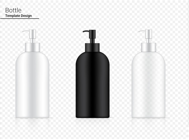 Glossy pump bottle transparent