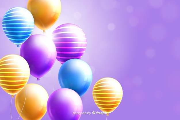 Glossy realistic tridimensional balloon background