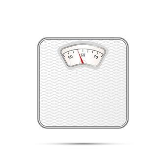 Глянцевый реалистичный значок весовщика