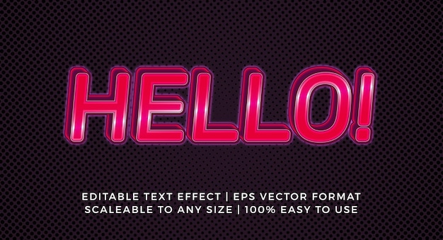 Glossy red glowing title text effect