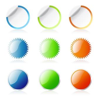 Глянцевые круглые наклейки