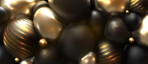 光沢のあるソフトボディ球抽象的なバナーの背景