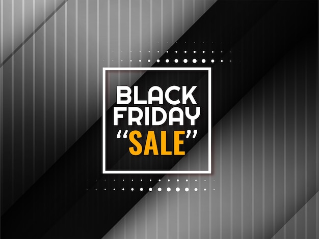 Glossy stylish black friday sale banner vector