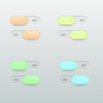 Glossy switch set