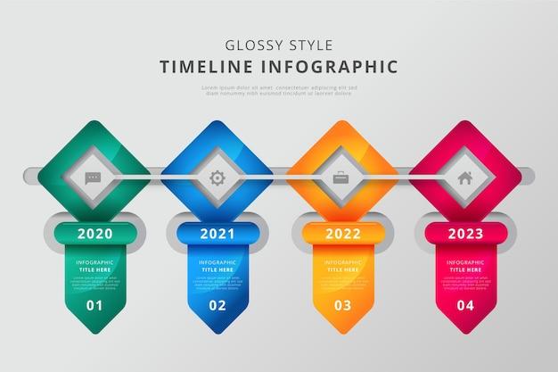 Глянцевый график инфографики