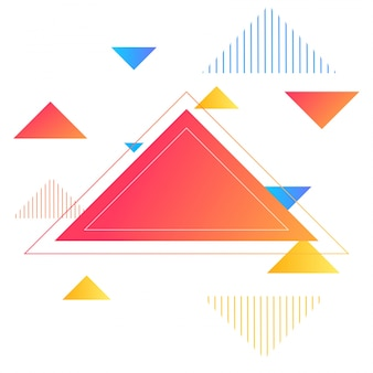 Triangoli lucidi, sfondo astratto per brochure, flyer o presentazioni design, illustrazione vettoriale.