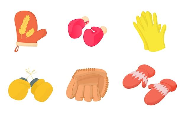 Gloves icon set