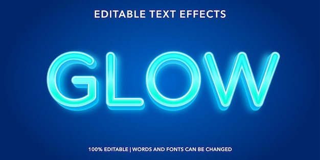 Glow 3d style editable text effect