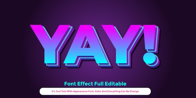 Glow colorful text 3d