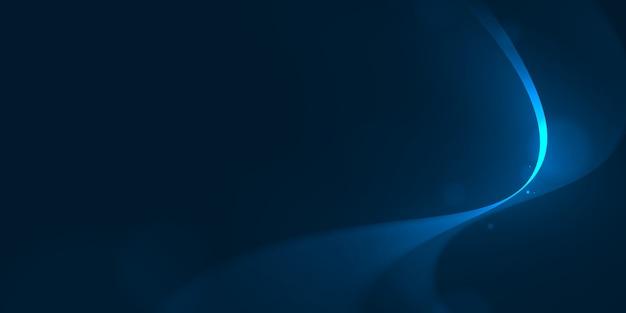 Линия кривой свечения на синем абстрактном фоне.