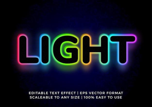 Glow in the dark fun 3d title text effect