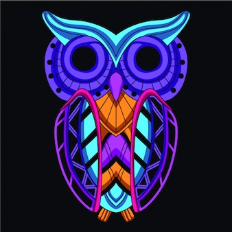 Glow in the dark owl