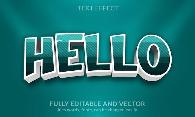 Эффект светящегося редактируемого золотого текста