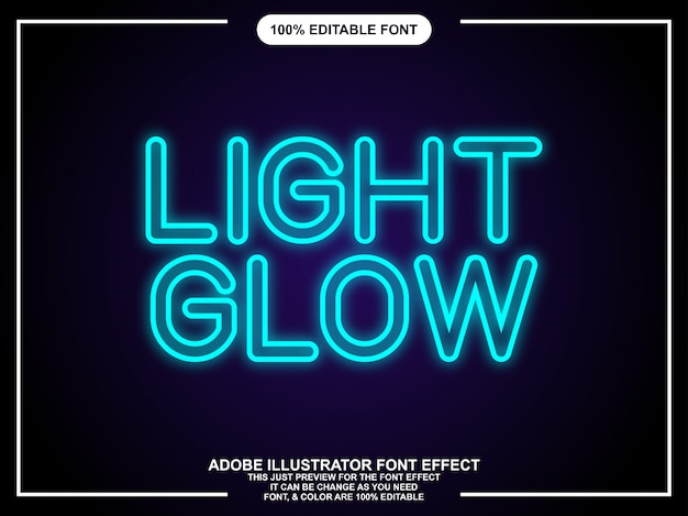 Glow editable graphic style text effect