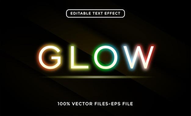 Glow editable text effect