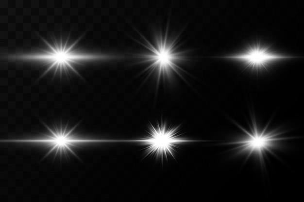 투명 배경에 광선 효과