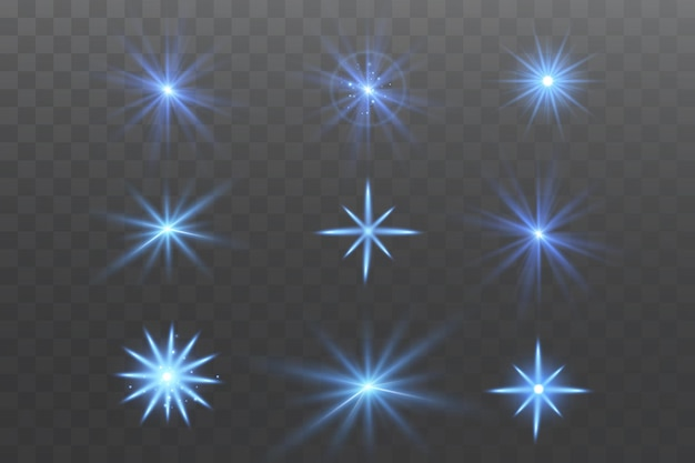 Glow effect. star on transparent background.bright sun.