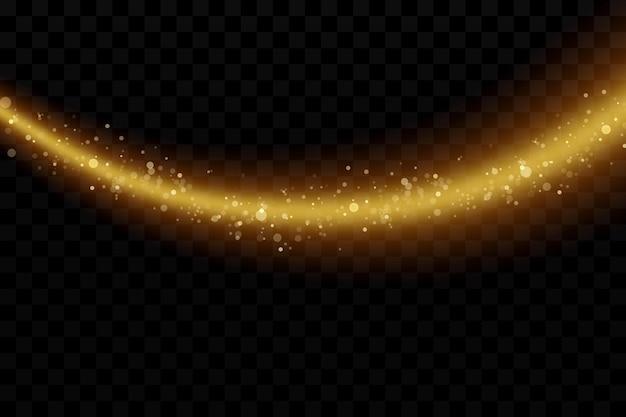 Glow effect vector illustration christmas dust burst comet