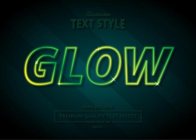 Glow illustrator text effect